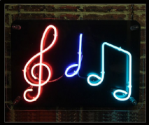 Musical Notes Neon Sign